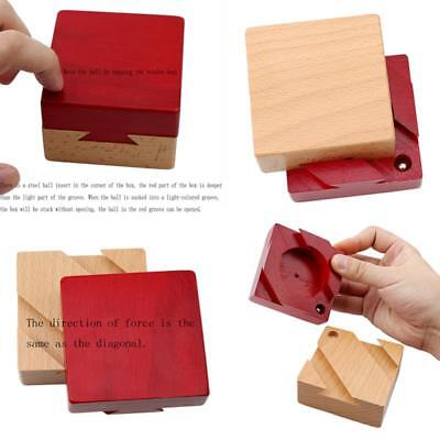 Wooden Brain Teaser Secret Opening Puzzle Box Magic Mysterious Box Gift Box Y6M7