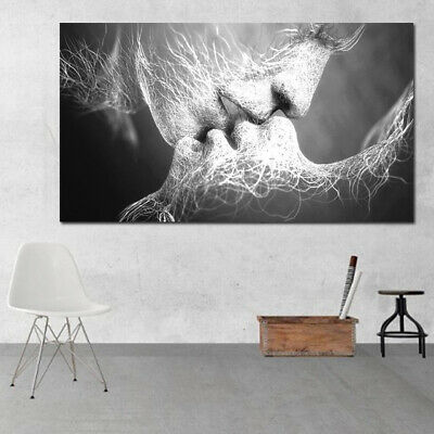 Unframed Abstract oil painting Love Kiss Wall Art Canvas Prints Pictures Decor