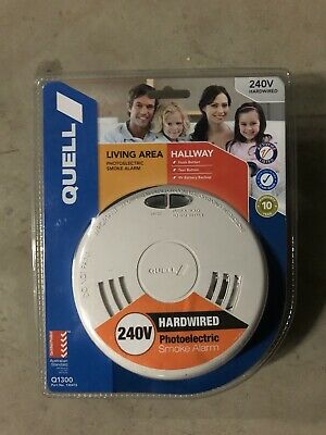 Quell Smoke Alarm 240V Photoelectric Interconnect, to same units in other rooms