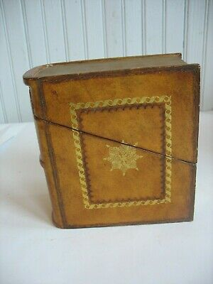 "Maitland Smith Wood & Leather faux Book Box  The World of Music 7"" by 6"" by 3"""