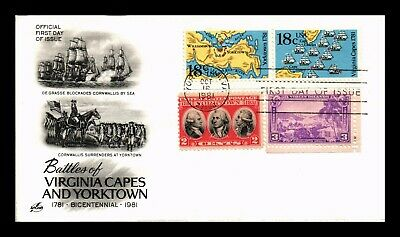 Dr Jim Stamps Us Battles Virginia Capes Yorktown Combo Fdc Cover