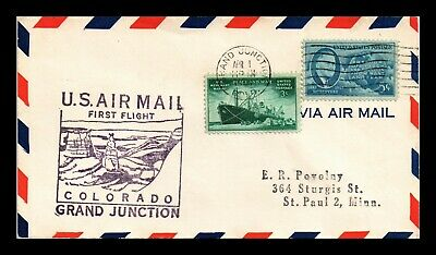 Dr Jim Stamps Us Grand Junction Colorado First Flight Air Mail Cover