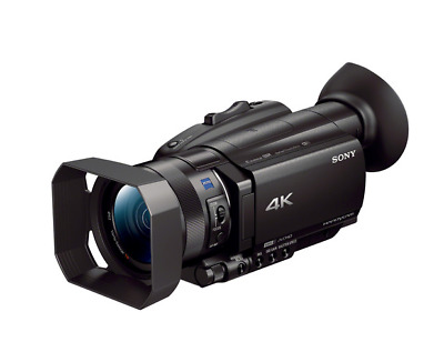 New..Sony FDR - AX700 4k HDR Camcorder used Once For A Few Minutes