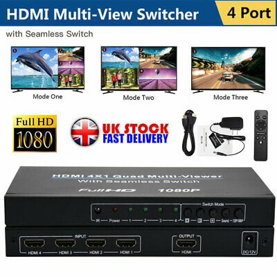 NEET 5 PORT/WAY hub/splitter/switcher HDMI AUTO SWITCH 5x1 with