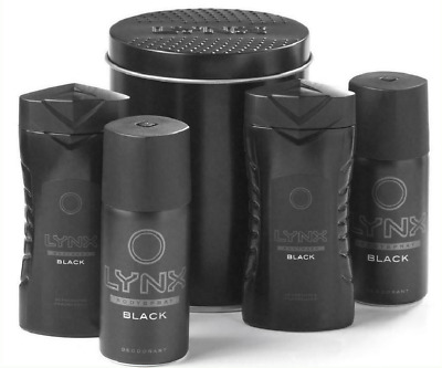 Lynx Black Handy Mini Travel Tin Gift Set Shower Gel & Body Spray