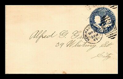 Dr Jim Stamps Us New Haven Connecticut Embossed Cover 1893 Fancy Cancel
