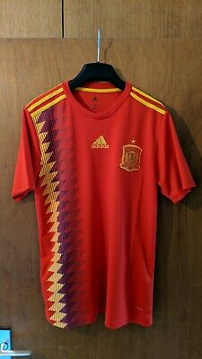 f0396b696fe adidas Spain Home Jersey 2018 Mens Red/Gold Football Jersey Shirt Kit  Climalite
