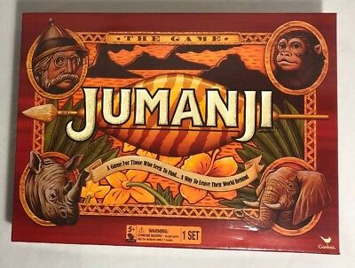 JUMANJI The Game Board Game by Cardinal Ages 5+ Family Fun