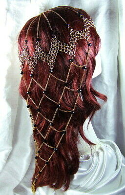 Game of Thrones Chainmail Headdress Dark Crystal Vikings Steampunk Pirate SCA