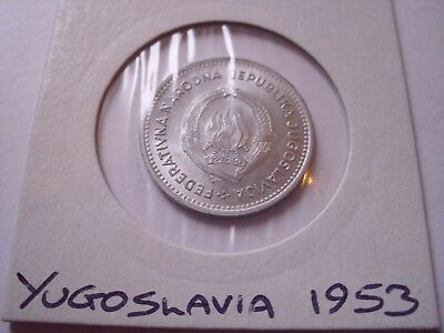 YUGOSLAVIA 2 Dinara 1953 top condition - see /256/