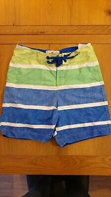 Mens Hollister Blue/Green Striped Swim Shorts Size Extra Small