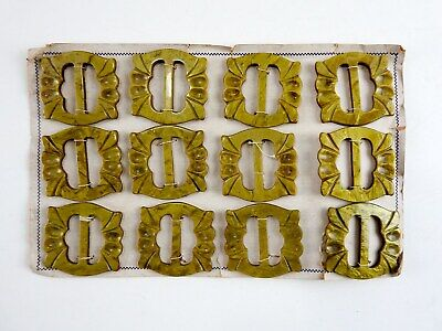 NOS Lot of 12 Celluloid MOP Belt Buckles Sash Buckle Slide Art Deco
