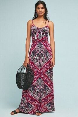 745275a433e5 NWT Anthropologie Brisbane Maxi Dress Sz M Moulinette Soeurs Red Jersey  Summer