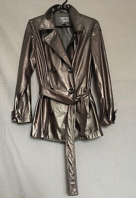 Womens Joseph Ribkoff Jacket Sz 12 Silver Lined Long Sleeves Polyester