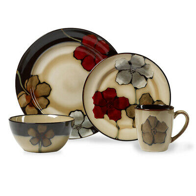 Pfaltzgraff Painted Poppies 32 Piece Dinnerware Set