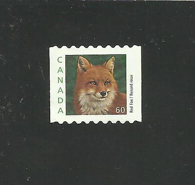 CANADA STAMP #1879iv RED FOX FROM BOOKLET - USED BUT UNCANCELLED