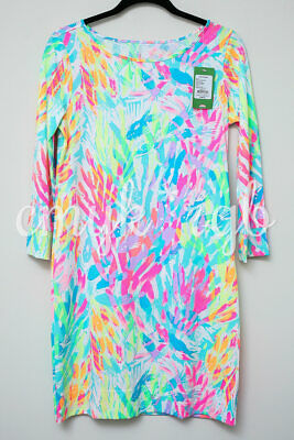 806b49aa01b02f NWT Lilly Pulitzer MARLOWE T-Shirt Dress, Multi Sparkling Sands, S/SMALL