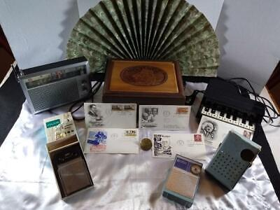 Junk Drawer LOT Vintage Radios, Phones, Antique Communications Pin MORE