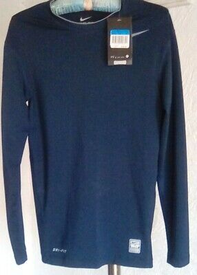 on sale 53489 18256 Nike Pro Combat Drifit Competition Base Layer Compression Men Navy Shirt Ls  Med