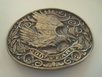 200 Years Of Service To The American Eagle Brass Belt Buckle Award Design Medals