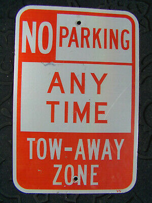 """Metal Single Sided Vintage No Parking Sign 12/"""" x 18/"""" Tow Away Zone Fire Lane"""