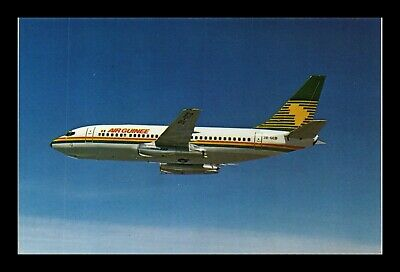 Dr Jim Stamps Us Air Guinee Boeing 737 Airplane Transportation Postcard