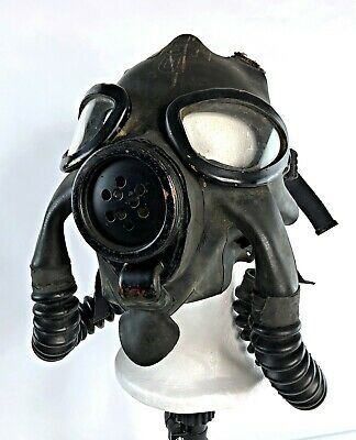 American 1941 Navy Issued MSA ND Mark III Gas Mask / Respirator - VTG US WWII