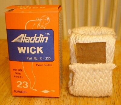 NOS Aladdin R-230 Wick w/ Box for Model 23 Burners - Oil Lamp Part New Old Stock