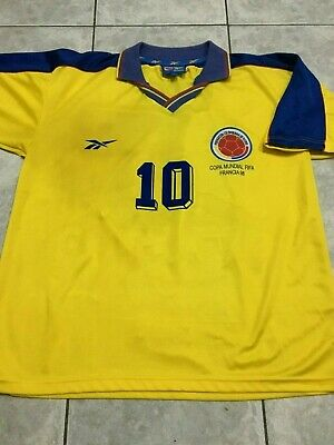 5f27b0bcbe1 SELECCION COLOMBIA 1994 Vintage Jersey Autographed Signed By Pibe ...