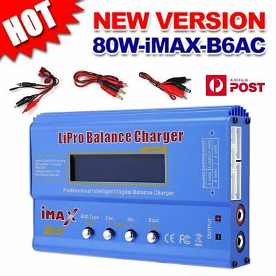 iMax B6AC 80W RC Lipo Lithium NiMh Digital Battery Balance Charger Discharger M3