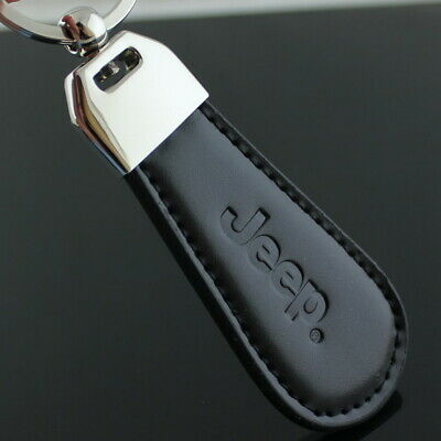 Car logo Key Chain Stainless Steel PU Leather Key Ring KeyChain fit for jeep