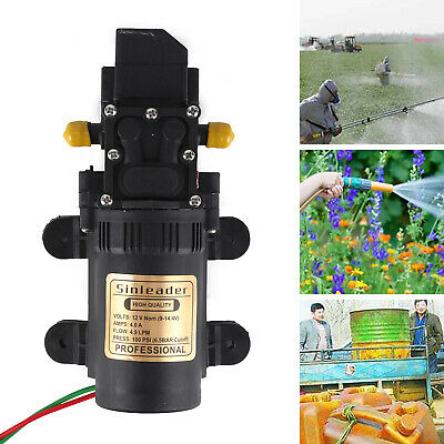 New 12V 5L/min Pressure Diaphragm Water Pump For RV Caravan Boat Garden 100PSI