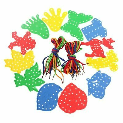 Animal Lacing Shapes Threading Laces Education Fine Motor Skills Chic Funny Best