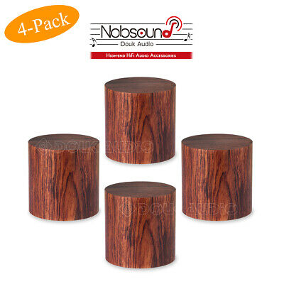 4PCS HiFi Speaker Spike Rosewood DAC Amplifier Isolation Stand Feet CD Player
