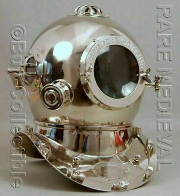 "Diving Helmet 18"" Vintage U.S Navy Mark V Deep Sea Scuba Divers Replica"