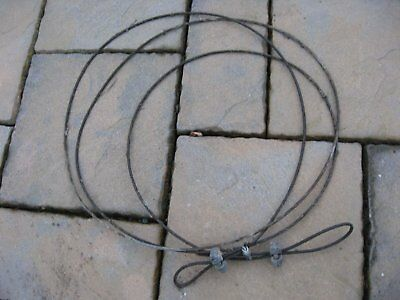 Towing cable / wire rope 19 foot long 5/16 inch diameter