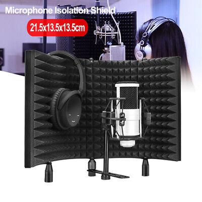 Microphone Shield Isolation Reflection Screen Acoustic Panel Foam Sound Studio