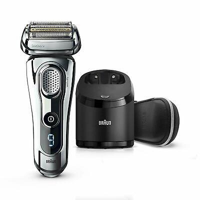 Braun Series 9 9296cc Men's Electric Shaver Wet/Dry Clean & Renew Charger Chrome