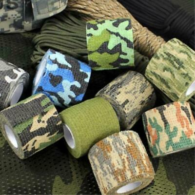 5cmx4.5m Camping Outdoor Hunting Camouflage Stealth Tape Waterproof Wrap Army Sa