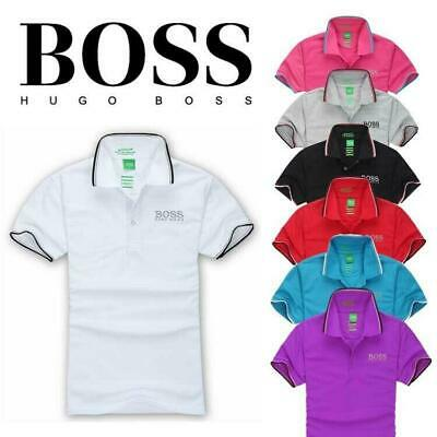 7 COLOURS New BOSS2 POLO Men's Casual Shirt short Sleeve Shirts T-shirts S~XXXL