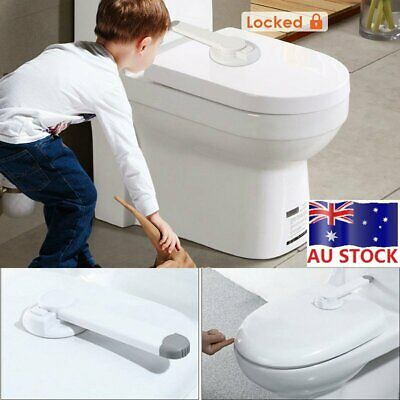 Toilet Seat Lid Lock Safety Child Proof Baby Toddler Kids Potty Home Bathroom AU
