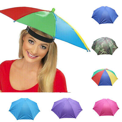 Foldable Sun Umbrella Hat Golf Fishing Camping Headwear Cap Head Hats Outdoor