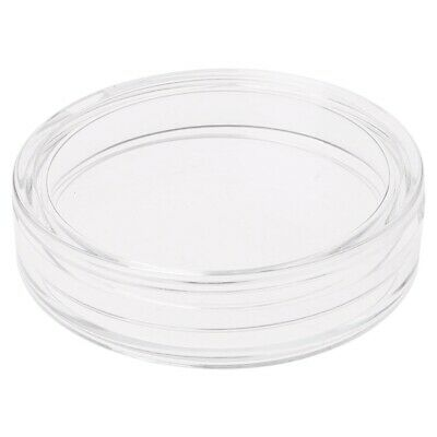 38.6mm Clear Round Acrylic Coin Storage Capsule Box Holder Case For Silver 2 oz