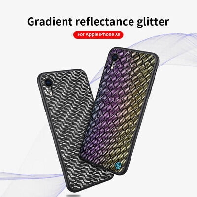 NILLKIN Dazzling PU Leather + PC + TPU Phone Case Cover for iPhone XR 6.1 inch