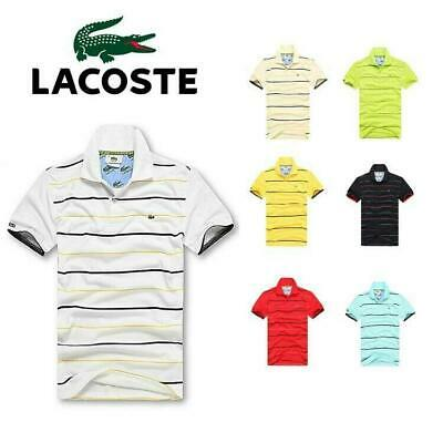 7 Colors New POLO MANICA CORTA UOMO DONNA ELEGANTE T-shirt Size S~XXXL
