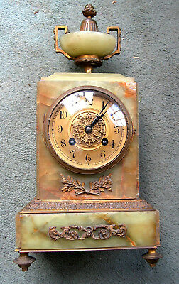 japy freres antique clock and candlestick holders