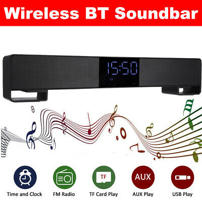Wireless Bluetooth 3D TV Sound Bar Home Theater Subwoofer Soundbar Speaker PC