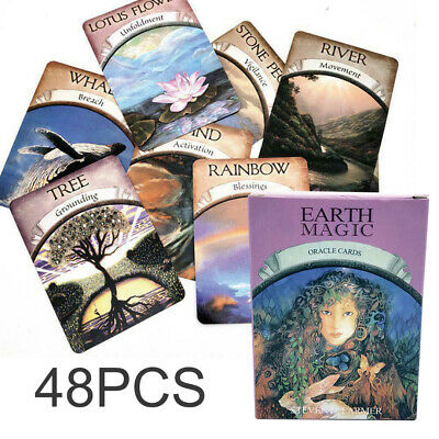 48-Card Magic Oracle Cards Earth Magic Read Fate Tarot Deck And Guidebook Tool