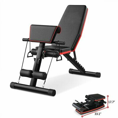 Weight Bench Flat Incline Decline Adjustable Bench Dumbbell Weight Lifting Bench