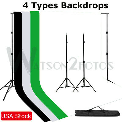 Photo Background Support Stand Kit With Pro Adjustable Tripod Light Stand Kit US